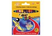 Creioane cerate 12 culori Wax Crayons Bic