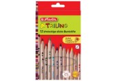 Creioane color 12/set groase Trilino Herlitz