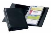 Clasor pentru 96 carti de vizita Visifix Economy Durable negru