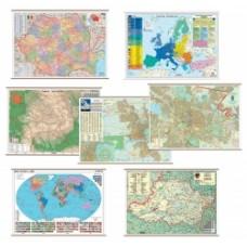 Harta cu codurile postale a Romaniei 100 x 70 cm lemn