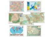 Harta fizico - geografica a Romaniei 100 x 70 cm plastic