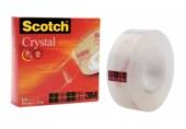 Banda adeziva Scotch Crystal Clear 3M 19 mm x 33 m