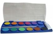 Acuarele 12 culori cu pensula si tub alb Pelikan