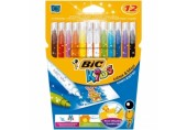 Carioca 12 culori lavabile Colour&erase Bic