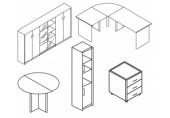 Dulap inalt 1 usa + 1 usa geam S/D 420 x 380 x 1840 mm