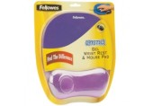 Mousepad Crystal purple cu suport de mana Fellowes