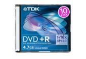 DVD+R TDK slim 10 pack