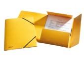 Mapa A4 lux din carton cu elastic Esselte galben