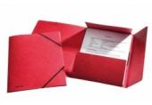 Mapa A4 lux din carton cu elastic Esselte rosu