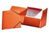Mapa A4 lux din carton cu elastic Esselte portocaliu