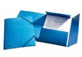 Mapa A4 lux din carton cu elastic Esselte albastru