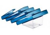 Set presenter de suporturi pentru cataloage albastru