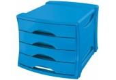 Suport cu 4 sertare Europost Esselte VIVIDA albastru