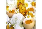 Servetele Paste - Lumanari in coji de oua si flori