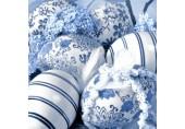 Servetele Paste - Oua decorate albastru