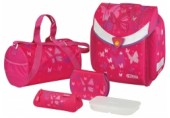 Ghiozdan echipat Flexi Pink Butterfly Herlitz