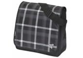 Geanta de umar Be.Bag Messenger carouri gri/negru Herlitz