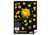 Bloc desen A4 50 file cu sticker Smiley World Herlitz